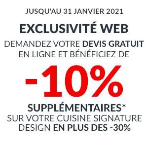 -10% sup sur les Cuisines Signature Design